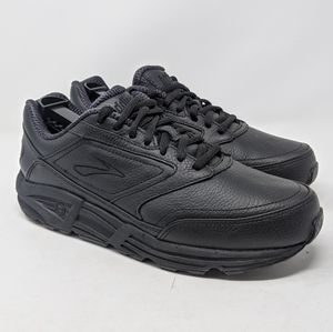 Mens sz 9.5 Brooks Addiction Walker Black Leather